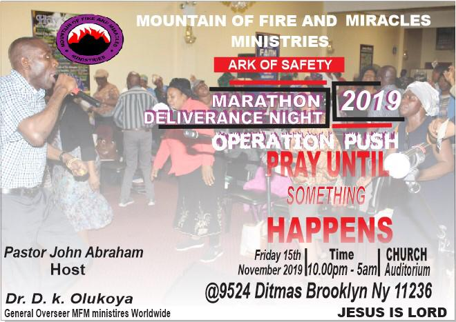 Operation PUSH – Pray Until Something Happens – MFM Ark Of